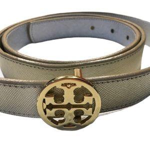 Tory Burch reversible Gold & Silver metallic belt
